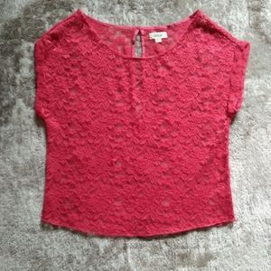 AERIE lacy overlay top
